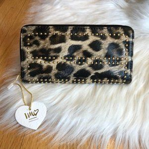 Imoshion Leopard w/ Gold Stud Detail Wallet